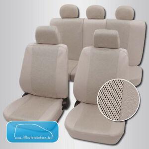 sydney beige leder design auto sitzbez ge schonbez ge ebay. Black Bedroom Furniture Sets. Home Design Ideas