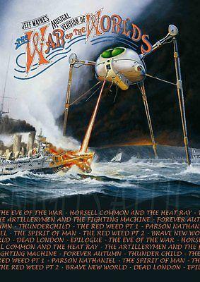 JEFF WAYNES   WAR of the WORLDS    A3 album poster