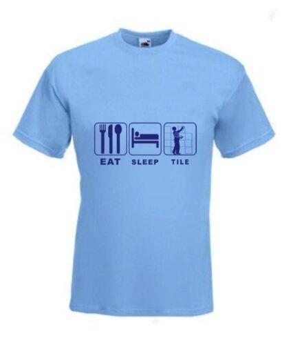 Tiler Eat Sleep Tile Funny T-Shirt any size