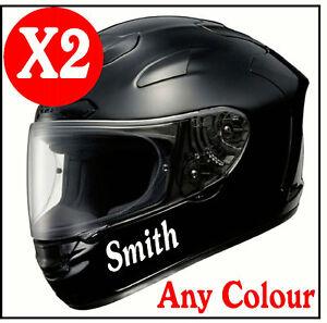 X MOTORBIKE HELMET STICKERS Lid DecalsGraphicsAdhesive - Motorcycle helmet designs stickers