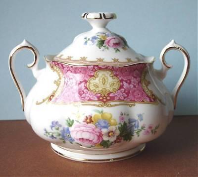 Royal Albert Lady Carlyle Covered Sugar Bowl New