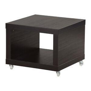 new ikea lack coffee table black tv stand side casters ebay. Black Bedroom Furniture Sets. Home Design Ideas