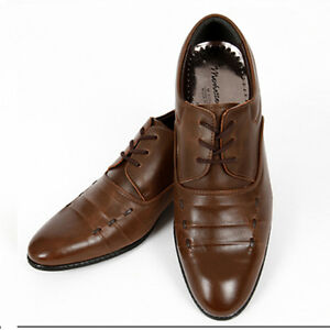 mens casual dress formal brown shoes ebay