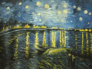 Van-Gogh-Starry-Night-over-the-Rhone-30x20-Painting