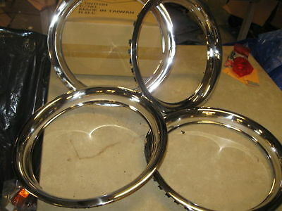 MGB MGBGT TRIM RINGS ROSTYLE WHEEL set of 4