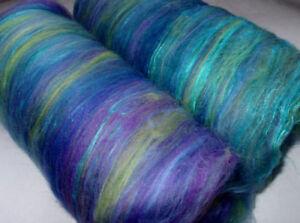Merino-Silk-Batts-nuno-needle-felting-wool-spinning-batting-blue-purple-green