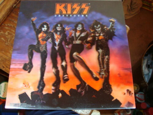 "KISS ""destroyer"" 3D LENTICULAR 12"" x 12"" lp album size poster DESTOYER (bbb)"