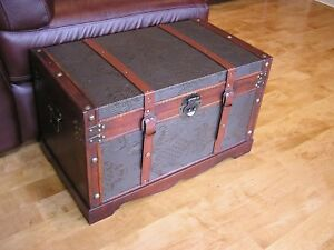 Image Is Loading New Orleans Medium Wood Storage Trunk Wooden Hope
