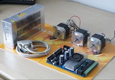 Nema23 Stepping Motor 185oz-in,3axis Driver board (TB6560) power CNC MILL CUTTER