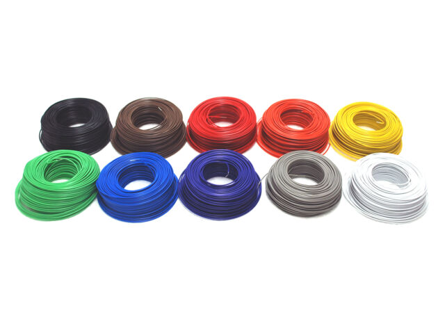 1 Roll L=40m Single strand PVC Copper Wire Tin-plated φ0.5mm 60℃ 300V 10 colors