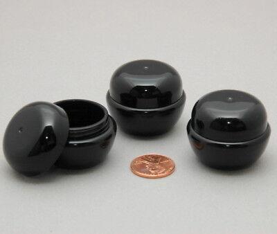 5 Empty 7ML Black Cosmetic Containers SAMPLE SIZE Travel Mini Cream Jars BPAfree