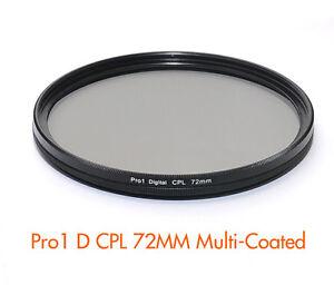 72mm Pro1 Slim MC CPL Filter Canon EF 28-135mm f3.5-5.6 IS USM 18-200mm f3.5-5.6