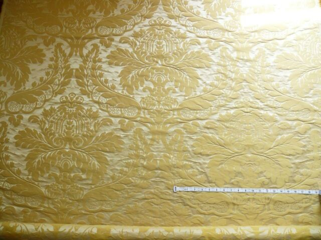 SCHUMACHER FAB CLASSY RENAISSANCE DAMASK GOLD YELLOW fr ITALY BTY