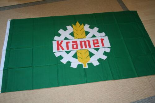 FAHNE//FLAGGE  Traktor Schlepper Trecker Kramer Logo Ähre 90x150  NEU