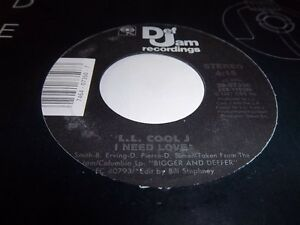 L-L-COOL-J-I-NEED-LOVE-MY-RHYME-AINT-DONE-DEF-JAM-07350-VG-45