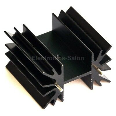 "1PCS Heatsink for TO-220/TO-3P/TO-247, 1"" x 1.65"" x 1.6"", PCB Mount."