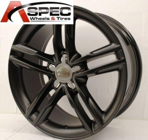 """18"""" S-LINE Style MATT BLACK WHEEL FIT AUDI A4 B5 B6 B7 B8 A5 A6 Q5 VW PASSAT CC"""