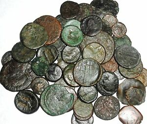 ONE-CLEANED-UNSEARCHED-ANCIENT-ROMAN-LOW-QUALITY-COIN