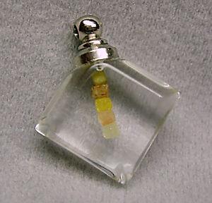 0.30+CARAT RARE UNIQUE 5 FLOATING Natural Uncut ROUGH DIAMOND Cube GEMS Pendant