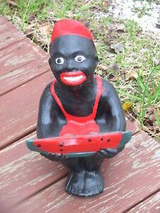 Black Watermelon Boy Statue Lawn Jockey Cousin W