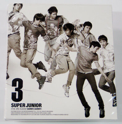 Super Junior - Sorry Sorry (3rd Album Version.C) CD+Photo Booklet+Poster K-POP