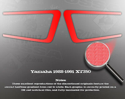 YAMAHA 1988-1991 XT350 SIDE COVER STRIPES DECALS