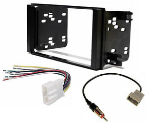 Radio-Stereo-Double-Din-Mount-Trim-Dash-Kit-Wire-Harness-amp-Antenna-Adapter