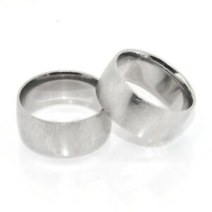 Platinum-Clad-Brushed-Satin-Finish-Band-Ring-Sterling-Silver-925-9mm-Bold