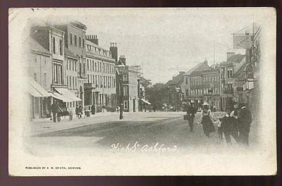 Kent ASHFORD High St 1904 PPC H De'Ath