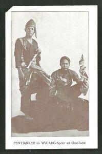 Pencak Silat Pentjakker Wajang Wayang Doll Puppet Player Java Indonesia 1931