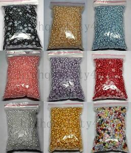 2000pcs-Half-Round-Pearl-Bead-Beads-Flat-Back-Flatback-For-Craft-4mm-10-Colors