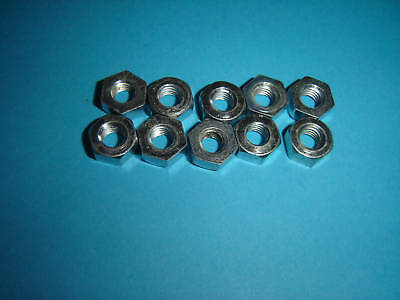 1/4 CEI NUTS  26 TPI THREAD PACK OF TEN BZP UK MADE