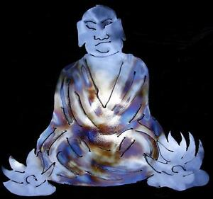 Buddha Lotus Flowers Zen Buddhism Metal Wall Art Decor Ebay
