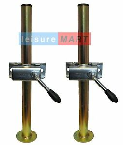 A-pair-of-trailer-prop-stands-corner-steadies-with-split-clamps-34mm-dia-X-460mm