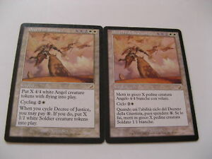 2x-MTG-Decreto-della-Giustizia-Decree-of-Justice-Magic-EDH-JUD-Judgment-ITA-ING