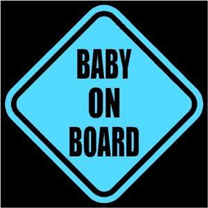 baby on board window decal sticker blue 5 5 h ebay. Black Bedroom Furniture Sets. Home Design Ideas