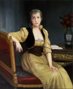 Quality-Hand-Painted-Oil-Painting-Repro-Bouguereau-Lady-Maxwell-20x24in