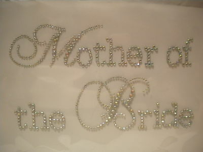 Mother of the Bride Hot Fix Rhinestone Iron On Transfer