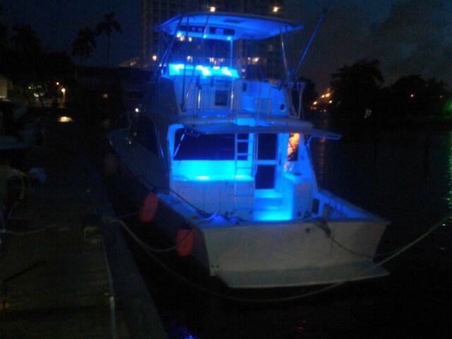 Blue LED Spot Light for Boat/Marine/Aqua Aluminum 3 Watt (Model X7-B)