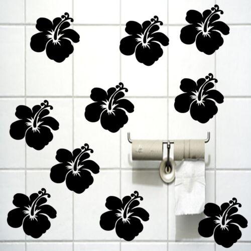 Hibiskus fleurs salle de bain carreaux Autocollant Fenêtre images des autocollants haf23