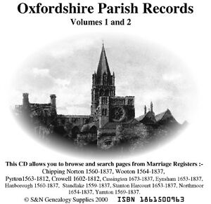 Oxfordshire-Parish-Registers-Complete-Phillimore-Marriages-Records