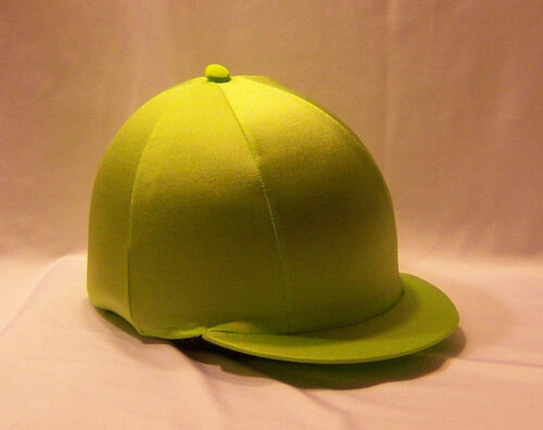 RIDING HAT COVER FLUORESCENT LIME