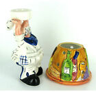 Encore Ceramic Hand Painted Chef Tea Light Candle Holder - 615954