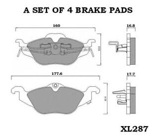 VAUXHALL-ASTRA-G-1-4-1-6-1-7-1-8-2-0-FRONT-BRAKE-PADS