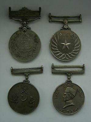 4 PAKISTAN MEDAL ORDER set lot