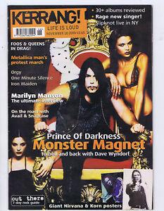 MONSTER-MAGNET-MARILYN-MANSON-METALLICA-Kerrang-No-828-Nov-18-2000