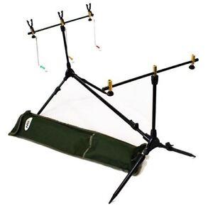 BRAND-NEW-Carp-Multi-Rod-Pod-with-Swing-Bite-Alarms