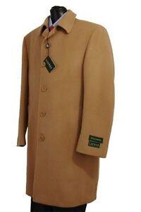 Lauren-by-Ralph-Lauren-Ivy-Men-039-s-Camel-Tan-Overcoat-Cashmere-Wool-Blend-Top-Coat