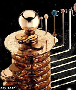 Planetarium-Brass-Orrery-Solar-System-Model-Tellurian-Planets-Model