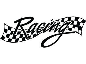 Large Racing Flag Decal Sticker Van Car Wall Team